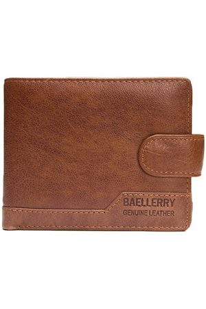 Newchic Genuine Leather Short Multi-card Slots Wallet For Men
