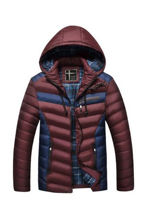 Newchic Patchwork Cotton Padded Coat