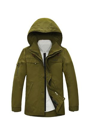 Newchic Men Outdoor Jackets - Military Hoody Outdoor Mutil Pockets Coat