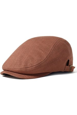 Newchic Men Caps - Flax Cotton Solid Beret Caps