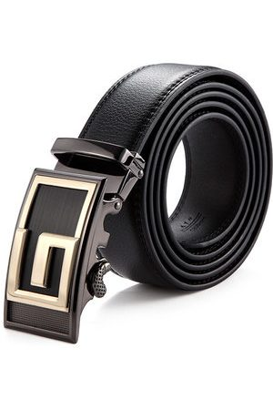 Newchic 120CM Male Genuine Leather Automatic Lock Stainless Steel Buckle Belts