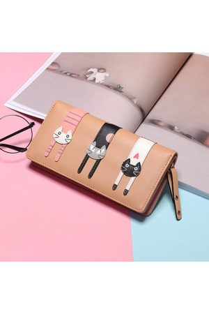 Newchic Women Wallets - Women Cat Cartoon Long Wallet Card Holder coin Purse