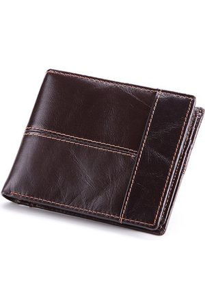 Newchic Genuine Leather Short Multi-function Multi-card Slots Wallet
