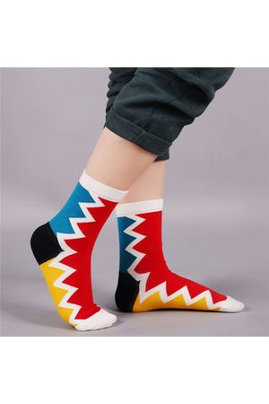 Newchic Colorful Geometric Pattern Cotton Tube Socks