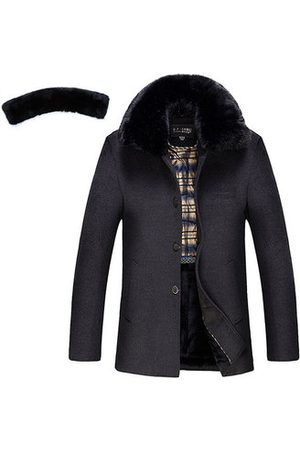 Newchic Winter Furry Collar Woolen Jacket