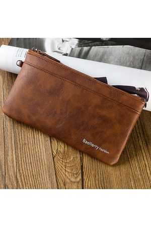 Newchic Men Wallets - PU Leather Thin Light Soft Long Wallet