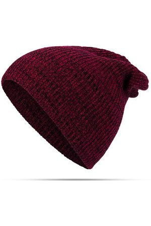 Newchic Men Caps - Solid Woolen Knit Beanie Cap