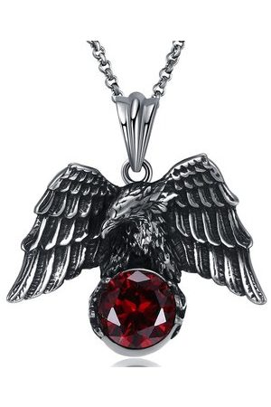 Newchic Men Necklaces - Punk Eagle Stainless Steel Necklace