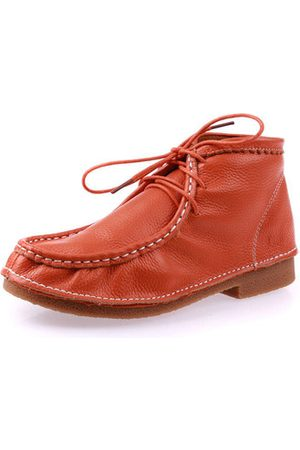 Newchic Leather Retro Flat Ankle Shoes