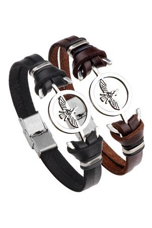 Newchic Men Bracelets & Bangles - Fashion Eagle Leather Bracelet