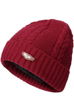 Newchic Men Caps - Knitted Solid Stripe Warm Fashion Beanie Cap