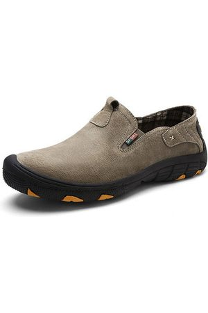Newchic Men Casual Shoes - Men Cow Leather Outdoor Casual Shoes