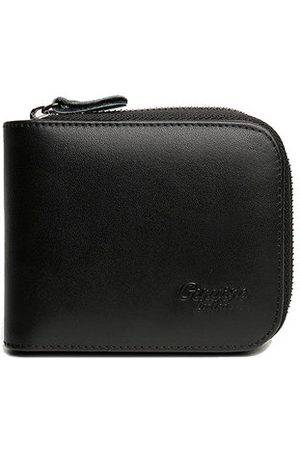 Newchic Men Wallets - Vintage Genuine Leather Short Zipper Wallet For Men