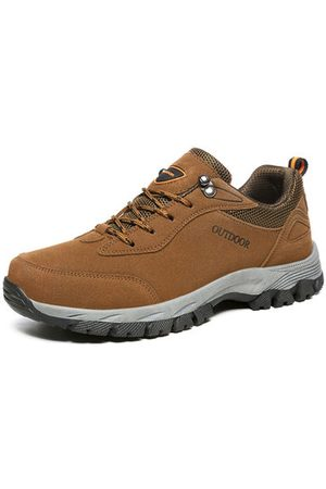 Newchic Large Size Men Suede Outdoor Wear Resistant Hiking Shoes