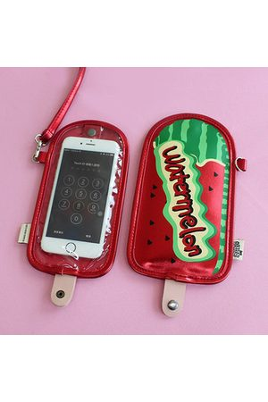 Newchic Ceative Fruits Print Neck lanyard Wallet Phone Bag