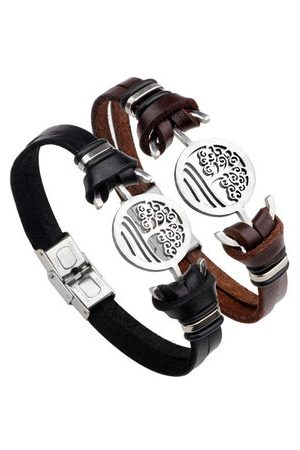 Newchic Tree of Life Leather Bracelet