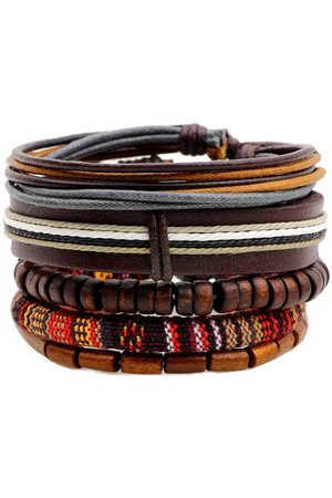 Newchic Men Bracelets & Bangles - Multilayer Bead Leather Bracelet