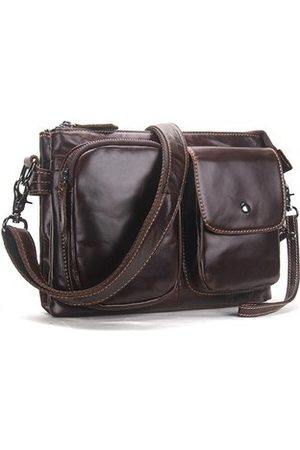 Newchic Genuine Leather Casual Business Crossbody Bag For Men