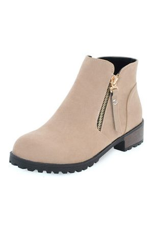 Newchic Girls Boots - Plus Size Zipper Soft Leisure Boots