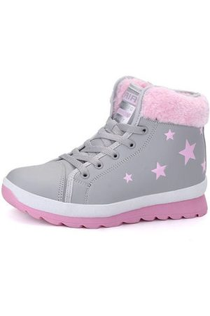 Newchic Women Sneakers - Star Printing High Top Casual Shoes