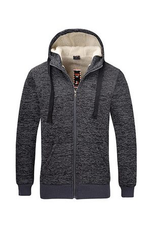 Newchic Men Sweatshirts - Mens Zip Up Casual Hoodies