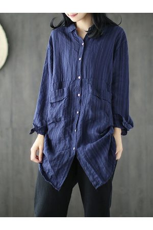 Newchic Women Blouses - Vintage Solid Color Women Shirts