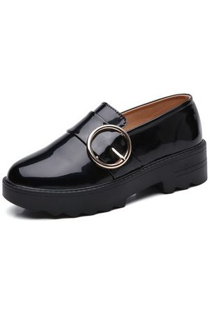 Newchic Girls Loafers - LANMARH Shiny Shallow Flat Loafers