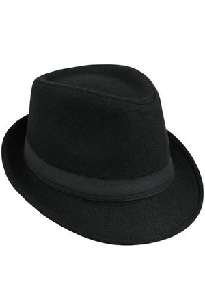 Newchic Men Women Woolen British Gentleman Solid Brimmed Jazz Cap