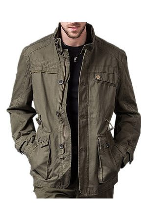 Newchic Men Jackets - Stand Collar Military Jacket
