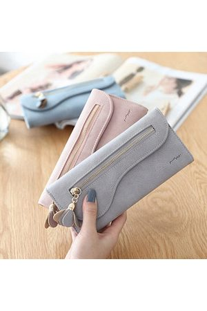 Newchic Women Girl Flower Decortional Long Wallet Purse