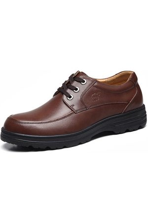 Newchic Men Casual Shoes - Men Cow Leather Wear-resistant Casual Shoes
