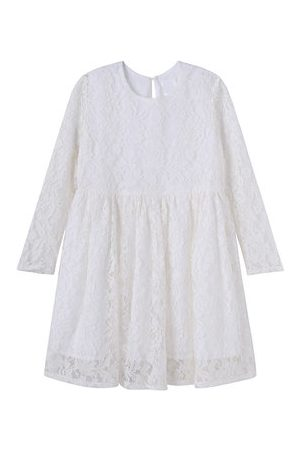 Newchic Girls Dresses - White Lace Dresses for Girls