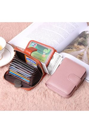 Newchic Genuine Leather Unisex 10 Card Slot Card Holder