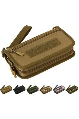 Newchic Men Wallets - Polyester Camouflage Wallet Passport 6 inches Phone Clutch B