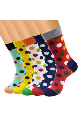 Newchic Men Socks - Men's Funny Colored Dots Cotton Socks