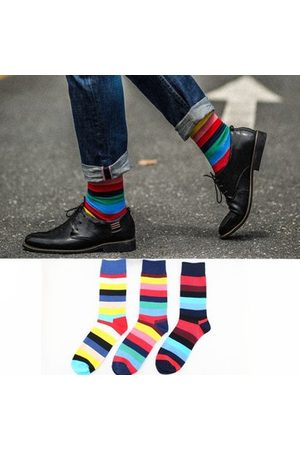 Newchic Mix Color Stripes Cotton Mens's Socks