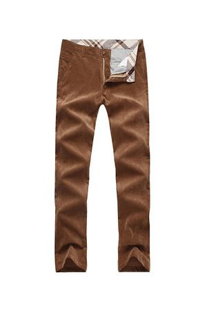 Newchic Men Pants - Thicken Corduroy Casual Straight Pants