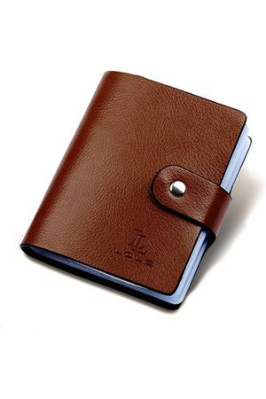 Newchic Wallets - Unisex 60 Card Slots Genuine Leather Card Holder