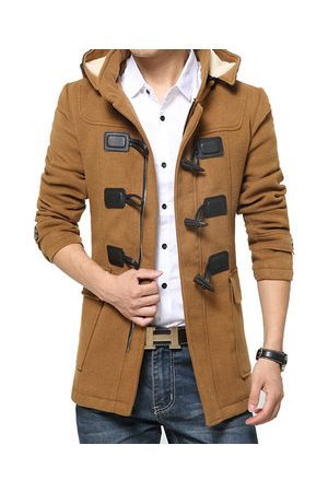 Newchic Men Trench Coats - Mens Warm Woolen Trench Coat