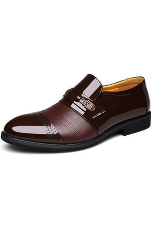 Newchic Men Cap Toe Pointed Toe Slip On Business Formal Shoes