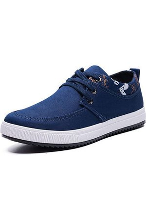Newchic Men Casual Shoes - Men Comfy Canvas Flat Lace Up Casual Shoes