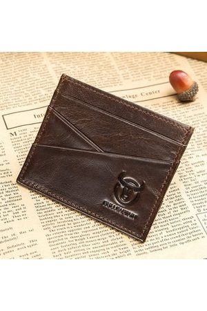 Newchic Vintage Genuine Leather 6 Card Slots Card Holder