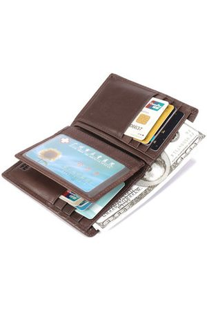 Newchic Genuine Leather Business 15 Card Slots Wallet For Men