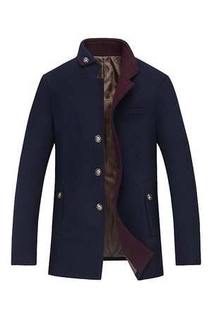 Newchic Men Winter Jackets - Winter Wool Warm Wool Jacket