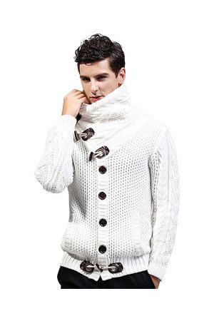 Newchic Men Cardigans - Wool Thicken High Collar Casual Sweater