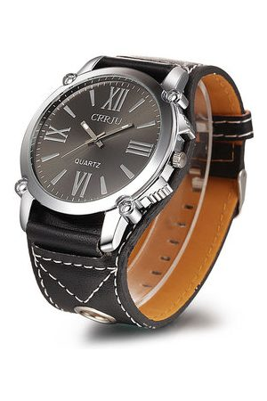 Newchic Men Watches - CRRJU Big Dial Leather Watch