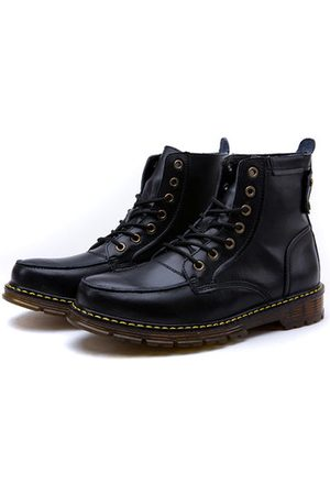 Newchic Men Boots - Men British Style Vintage Color Boots