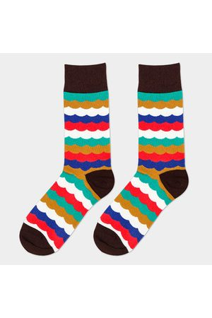 Newchic Men Socks - Men Multicolor Cotton Breathable Warm Tube Socks