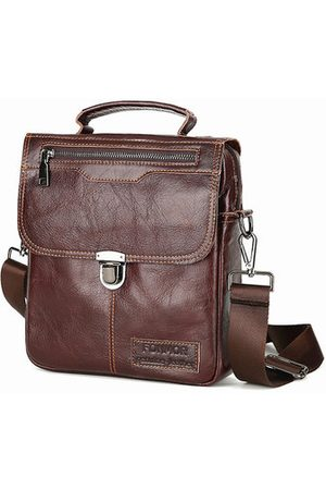 Newchic Men Laptop Bags - Vintage Genuine Leather Business Handbag Men Crossbody Bag