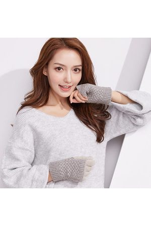 Newchic Women Gloves - Knitted Thickening Touch Screen Cute Gloves